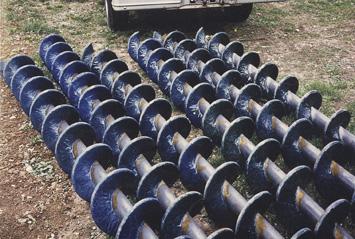 Double-C chromium carbide augers